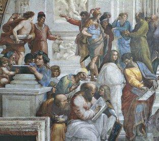 Ausschinitt aus Raffael Schule von Athen - Quelle: http://www.zeno.org